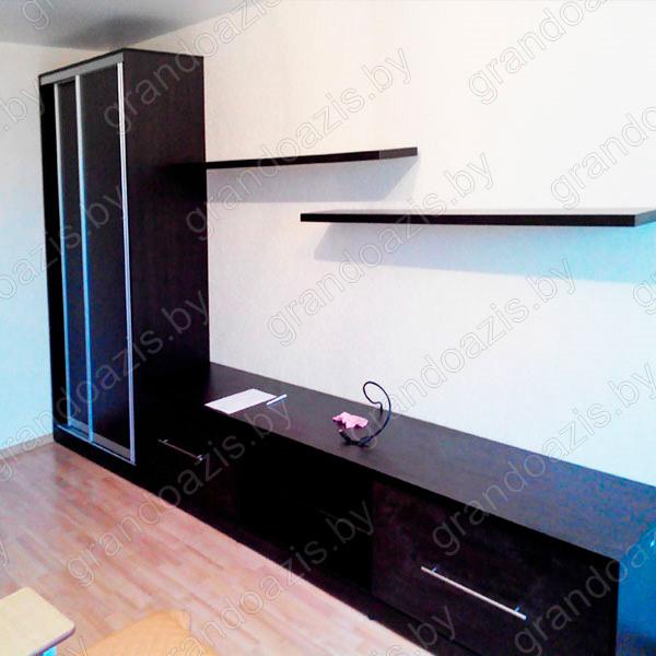 Шкаф-Купе в гостиную с тумбой SN45